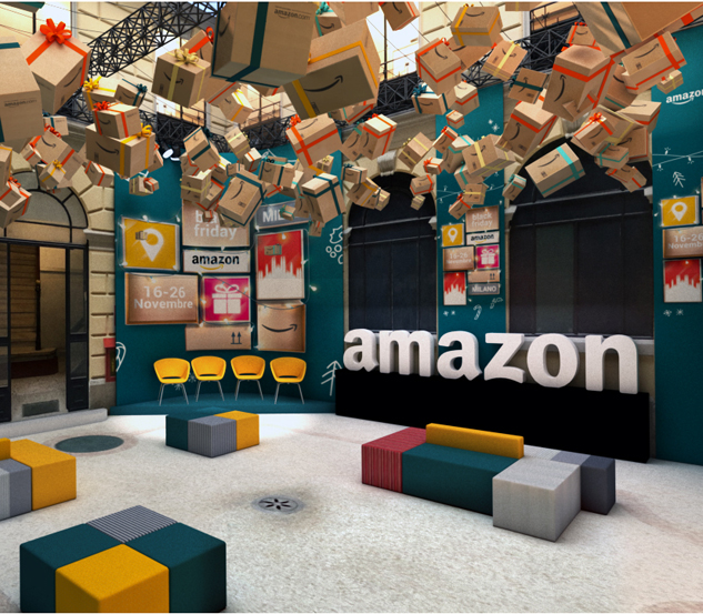 Amazon è pop up store