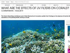 I filtri UV non danneggiano i coralli