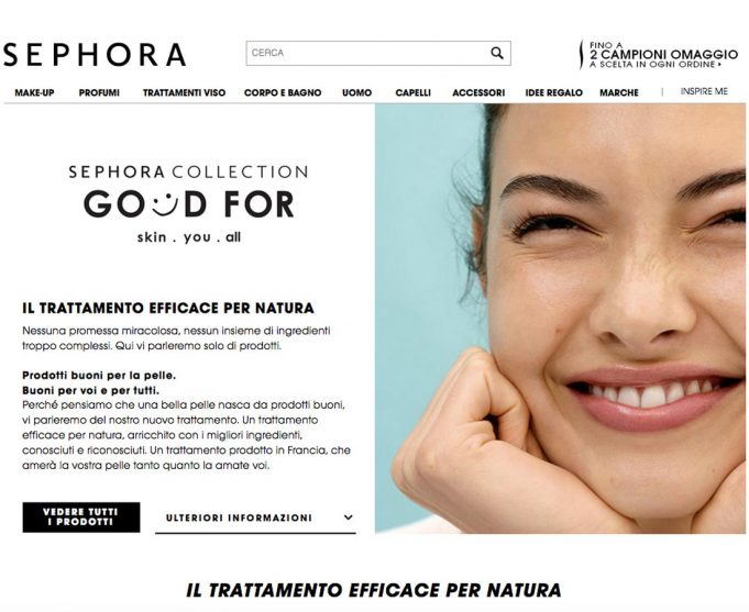 Sephora lancia la Collection Good For skin.you.all
