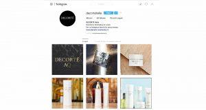 Decorte approda su Instagram e Facebook