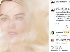 Margot Robbie volto di Gabrielle Chanel Essence